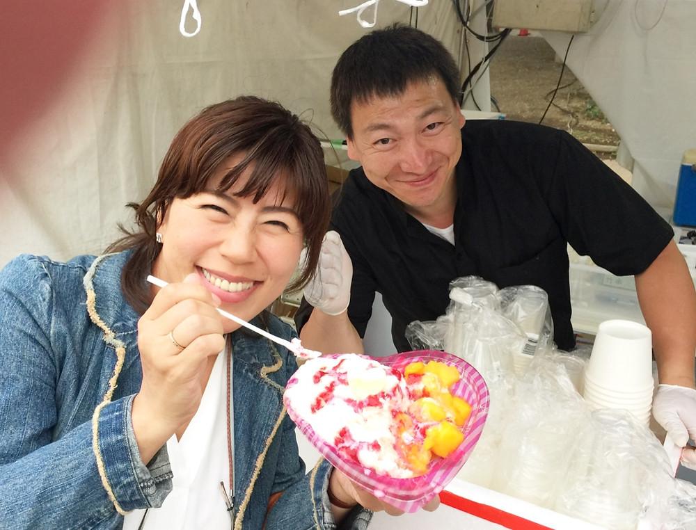 台湾フェスティバルにて、原宿のかき氷屋さん