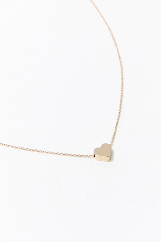 Collar heart design gold