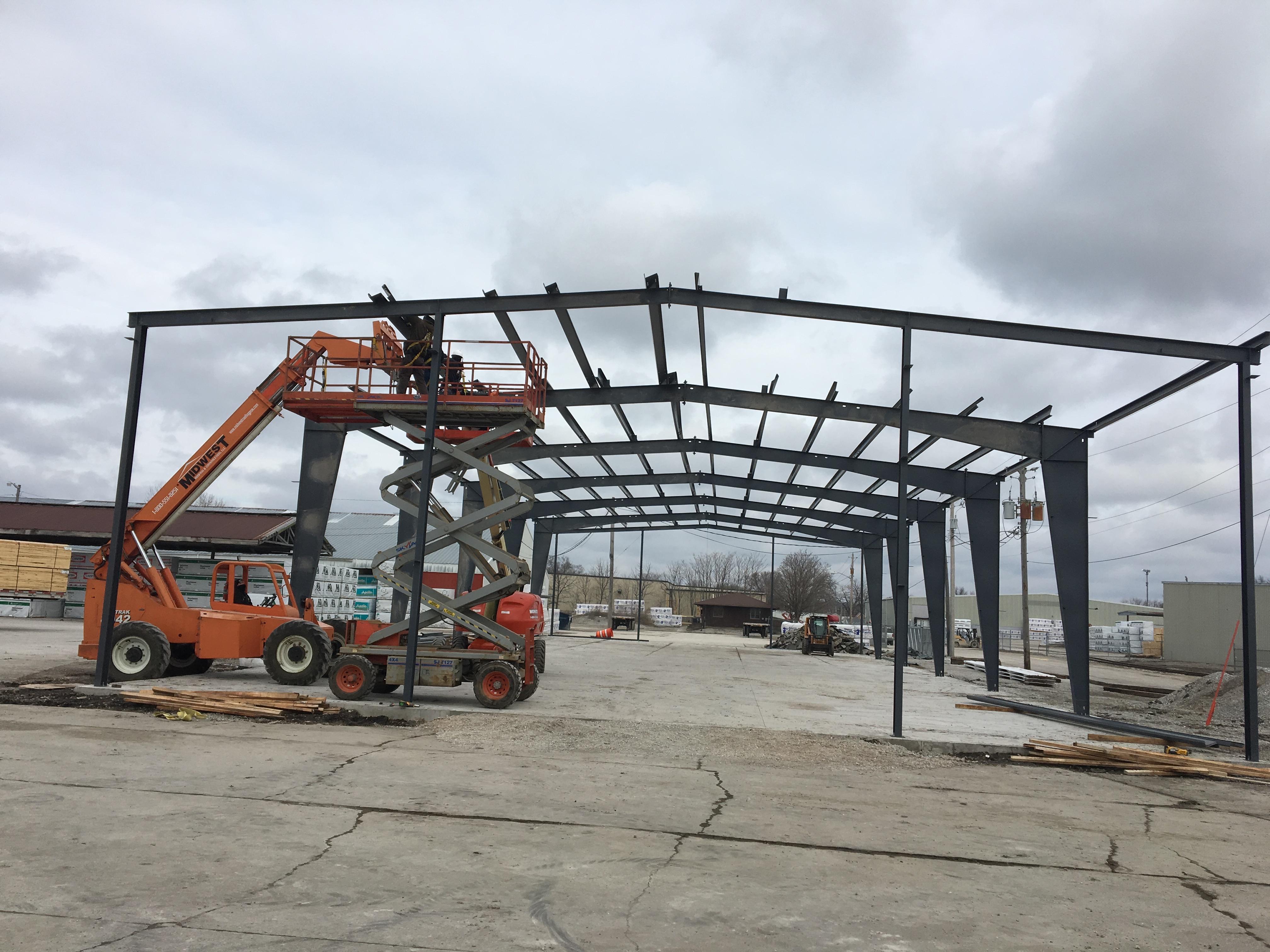 Steel frame shed