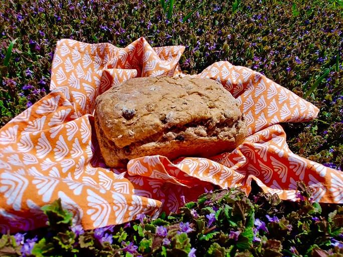 Cracked Wheat Raisin Walnut Bread
