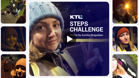 Aurelia Dragulean was a top performer throughout KTL's Let's Get Moving Steps Challenge.