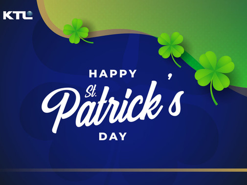 Happy Saint Patrick's Day to all our followers, clients, and staff.