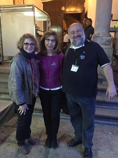 Con Emilia Perassi y Ángelo