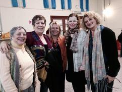 Lidia Formiga de Tosco, Tere Andruetto, Vilma Novick Freyre y Sandra Comino