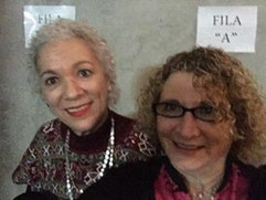 Con Ana Laura Delgado