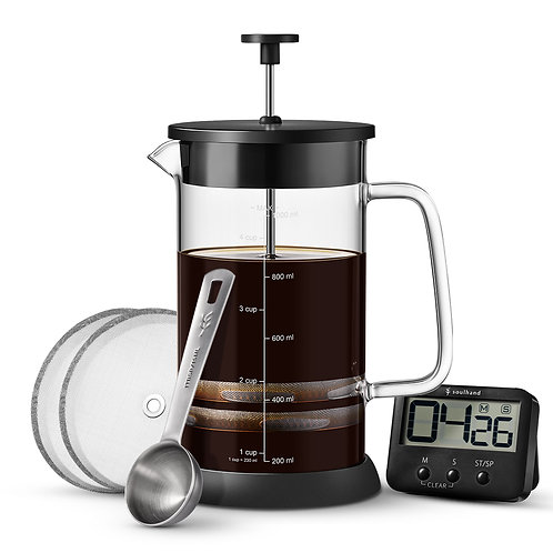 Soulhand French Press Coffee Maker 34oz/1000ml