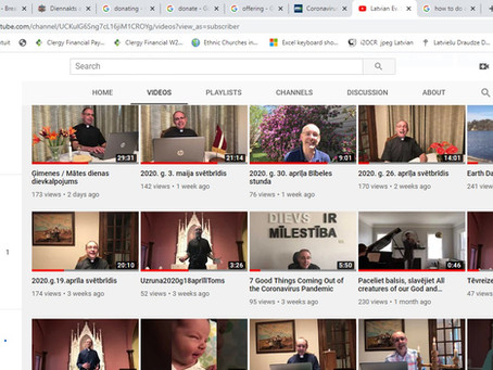 Šeit pieejami visi draudzes YouTube video ieraksti!