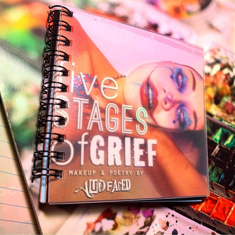 Five Stages of Grief Art + Poetry Book (10 Copies in Circulation)