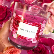 Rosewater Candle