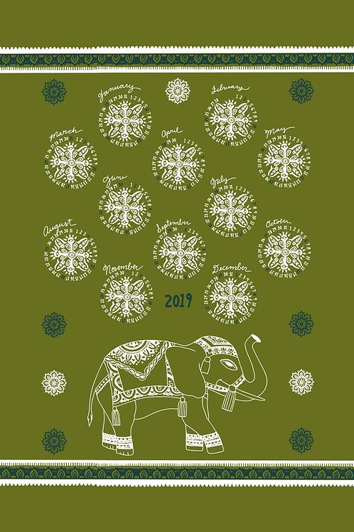 Custom Calendar Tea Towel Design