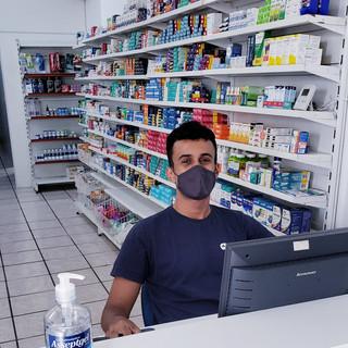 Abimael se protegendo do Coronavírus