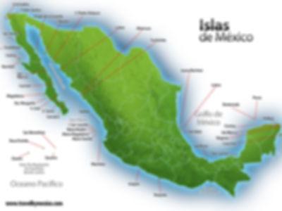 MAPA DE ISLAS MEXICANAS. Enlaes Turisticos