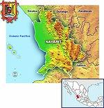 MAPA DE NAYARIT MEXICO www.enlacesturisticos.com