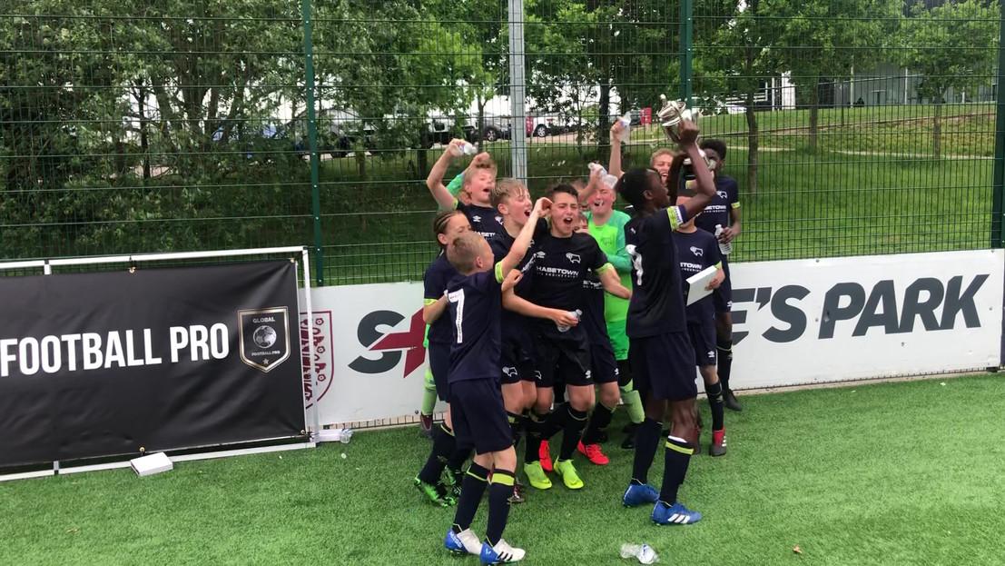 Derby County 2019 U12 Champions Cup winners