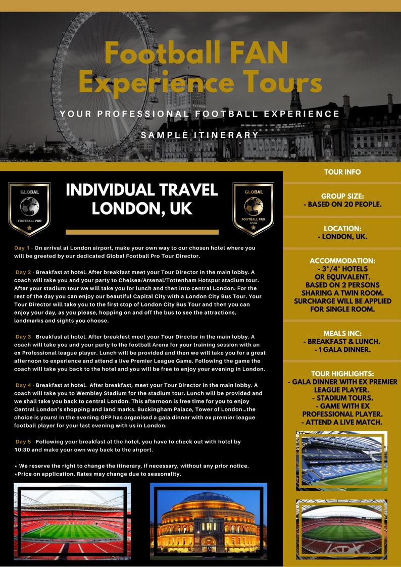 SAMPLE ITINERARY ST.GEORGE'S PARK