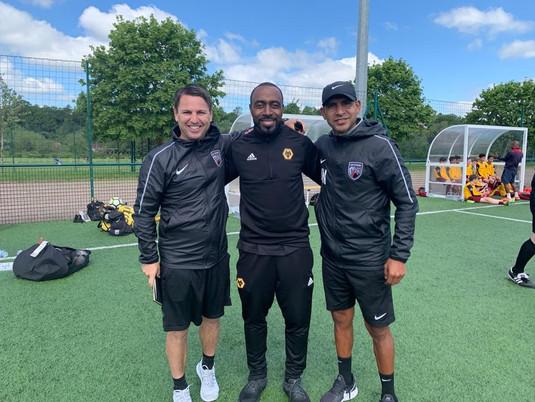 SAFC Coaches meeting Darius Vassell