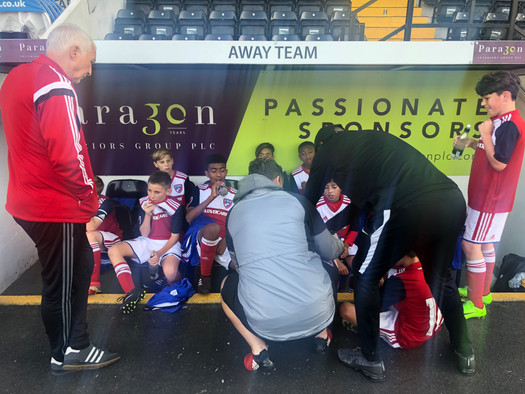 GFP staff helping FC Dallas at Meadow Lane vs Notts County FC