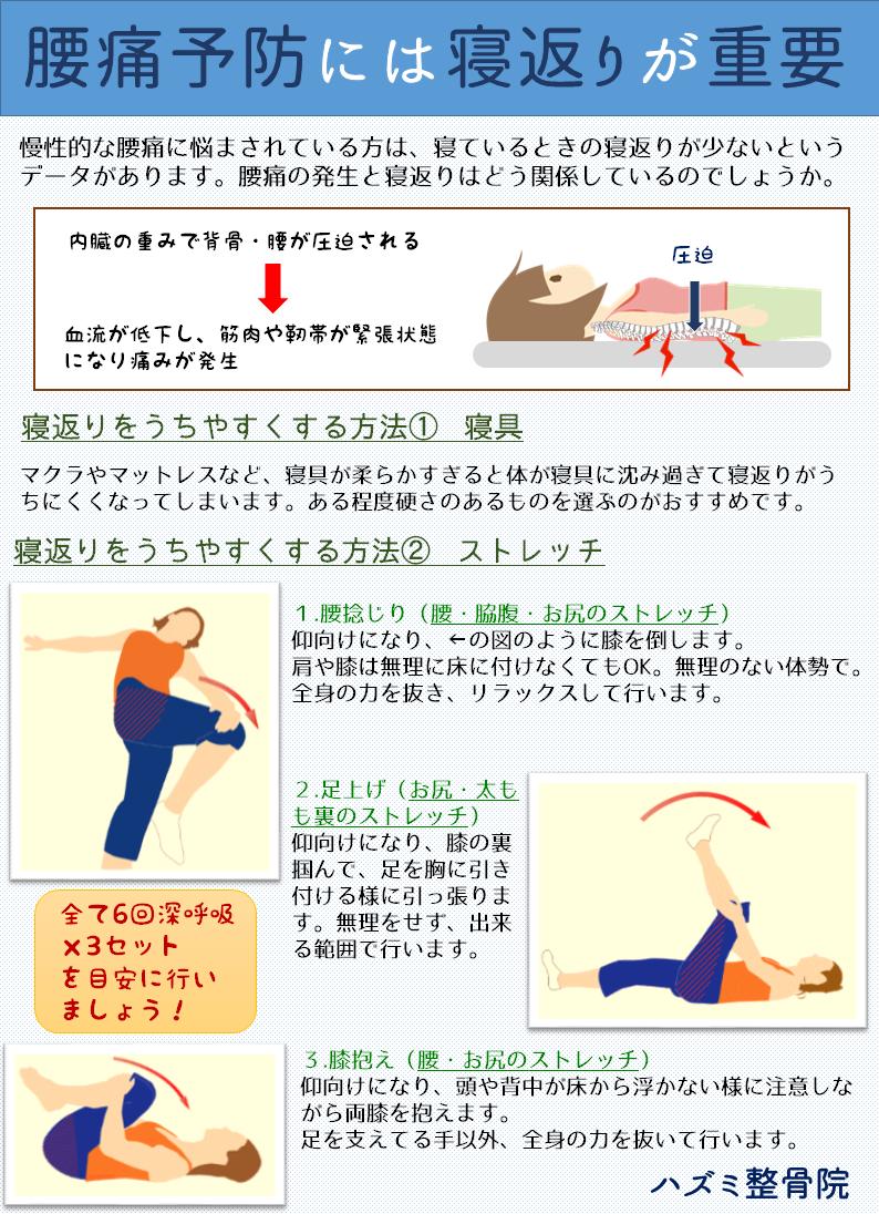 腰痛予防には寝返りが重要