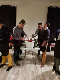 Travail d'équipe autour des cocktails création