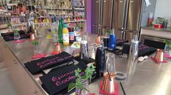 Poste bar pour atelier cocktail
