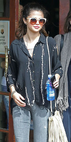 Selena Gomez with McFadin Fringe Bag