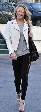 Leann Rimes with McFadin Fringe Bag, Stacy & Laurie McFadin