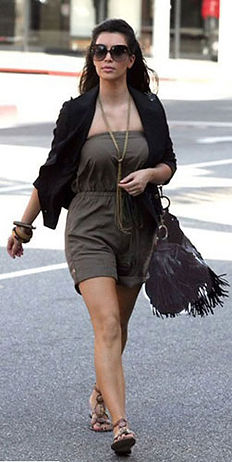 Kim Kardashian with McFadin Fringe Bag