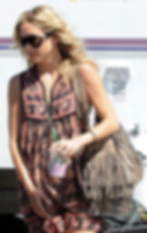 Kate Hudson with McFadin Fringe Bag