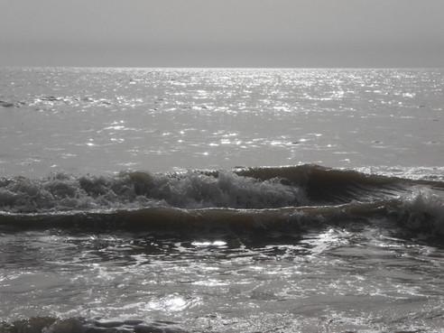 Spuren auf dem Meer