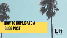 How to duplicate a WIX blog post