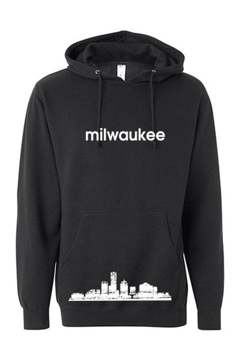 Milwaukee Skyline Hoodie - Black