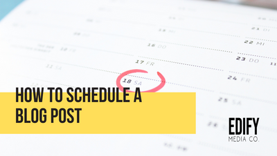 How to schedule a blog post in WIX