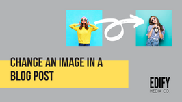 Change an image in a blog post