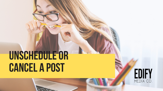 Unschedule or cancel a WIX blog post