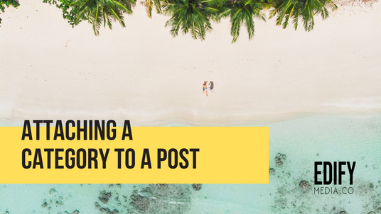 Attaching a category to a WIX post