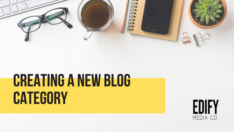 Creating a new WIX blog category