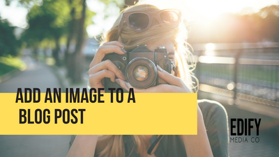 Add an image to a WIX blog post