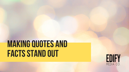 Making quotes and facts stand out in WIX
