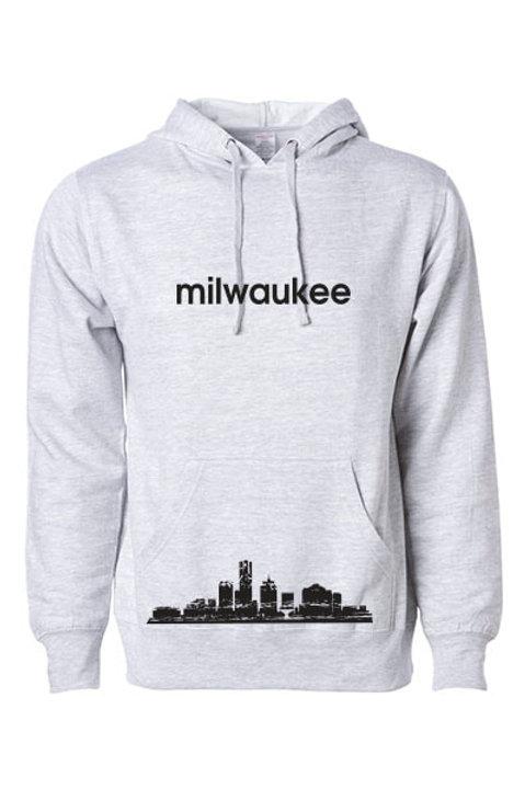 Milwaukee Skyline Hoodie - Gray