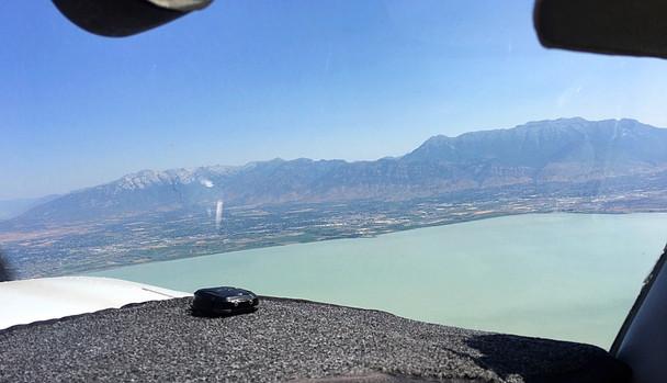 Utah Lake near Provo and the surrounding mountains.