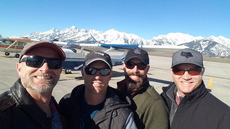 Mark and friends in Jackson Hole