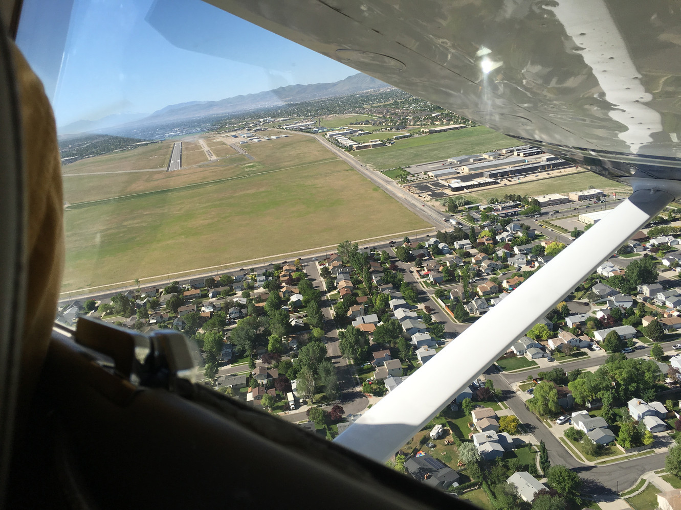 Turning base to final at South Valley