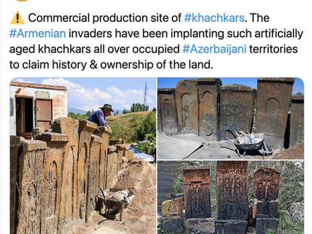 Azerbaijani social media spreads story of khachkar forgeries