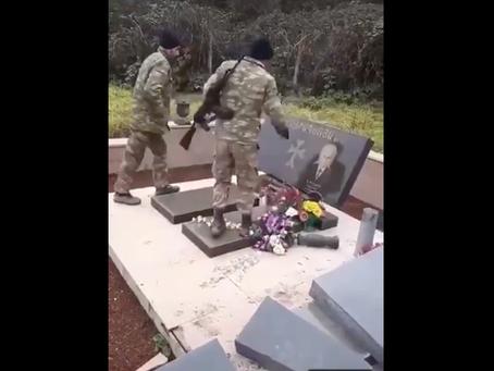Vandalism of modern tombstones