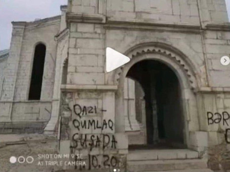 Reports of Vandalism at Ghazanchetsots Church, Shusha [Shushi]