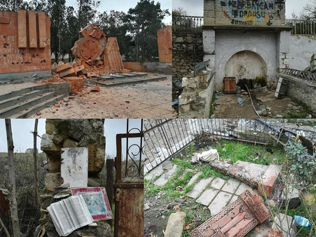 Talish khachkars, memorials, and books vandalized
