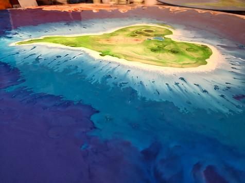 Coeur d'une île en peinture