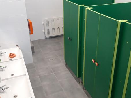 Wyremontowana łazienka dla przedszkola