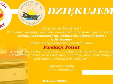 Dziękujemy Fundacji Polsat