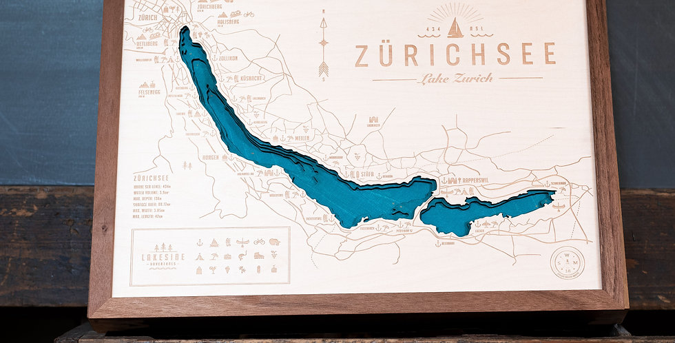 ZÜRICHSEE GANZ - NUSSBAUM (A4 bis A1)